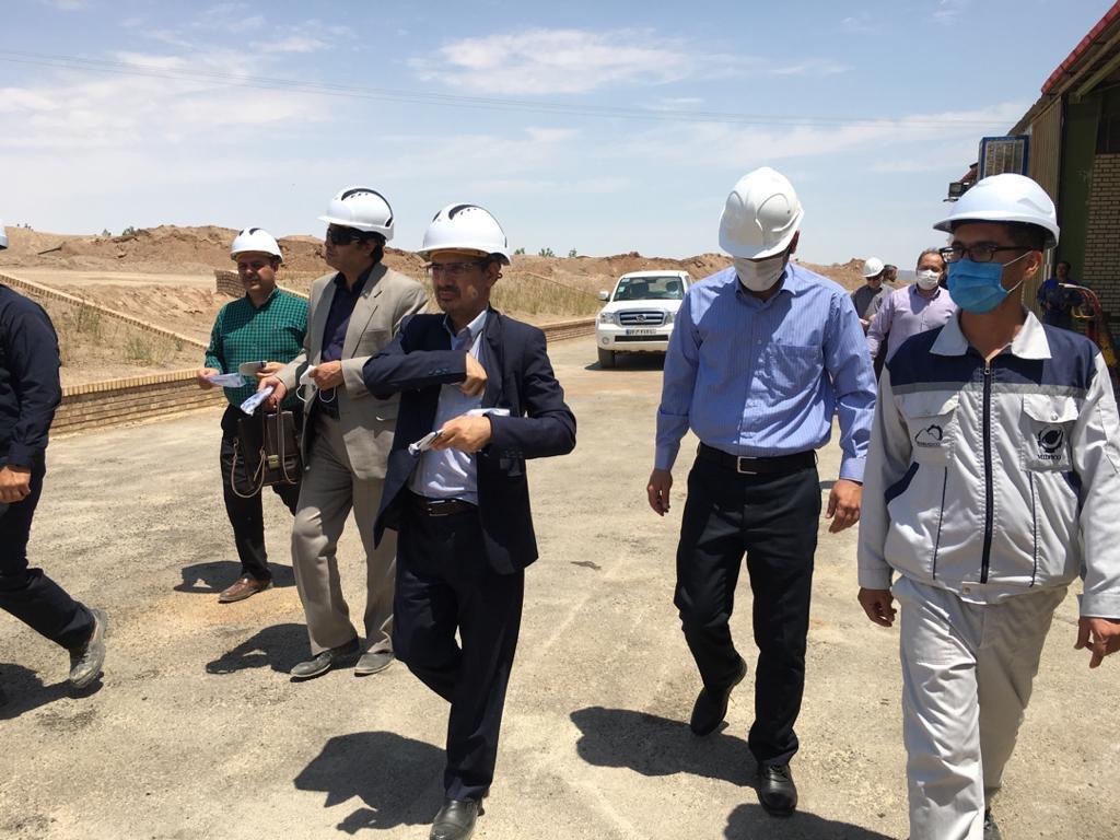 بازدید آقای دکتر تشنه دل ریاست محترم اداره کل صنعت معدن و تجارت استان سمنان از  مجتمع مس چاه موسی