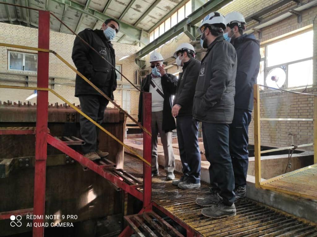بازدید مدیر عامل از پیشرفت عملیات اکتشاف در معادن چاه موسی و قلعه سوخته و خط تولید کارخانه فراوری مس کاتدی