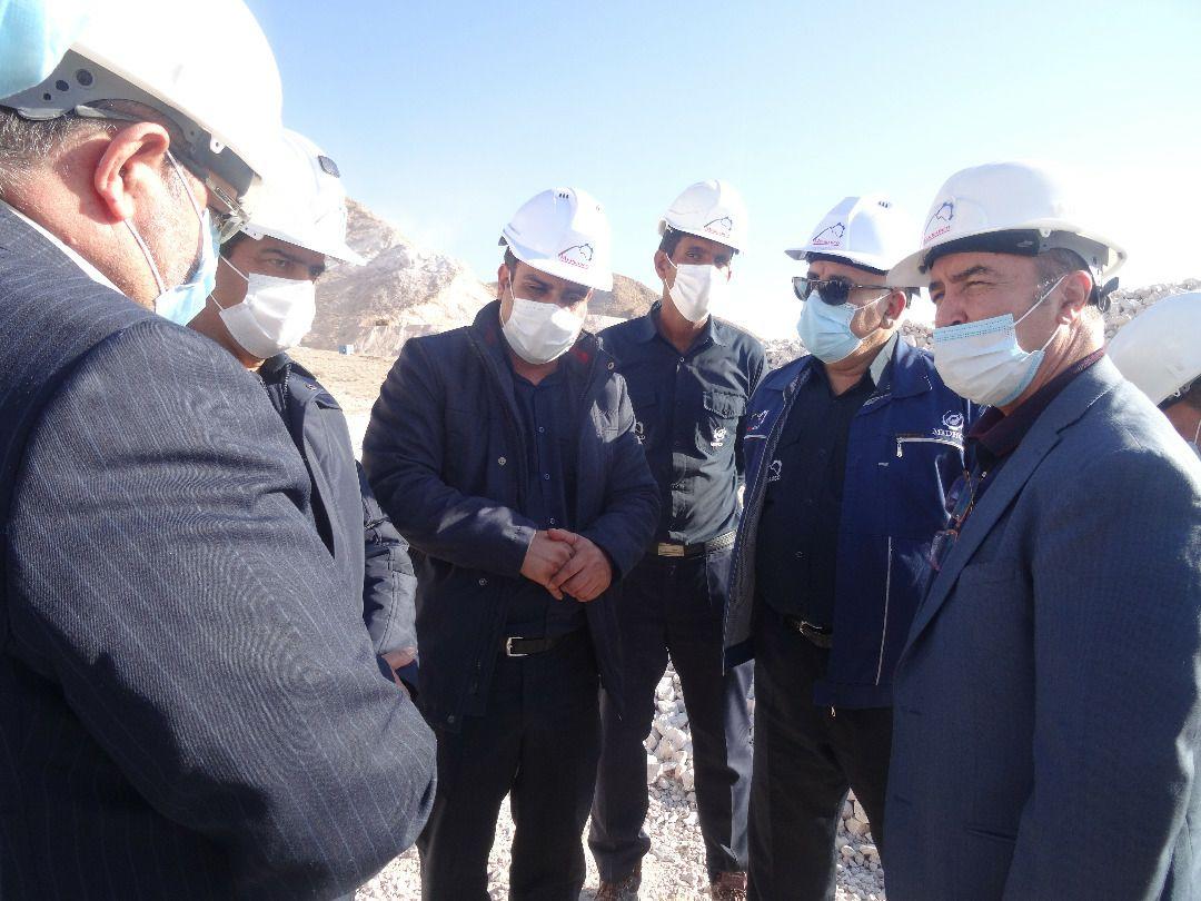 بازدید معاون برنامه ریزی و توسعه ایمیدرو از کارخانه آهک و دولومیت و معدن سنگ آهک چترود کرمان