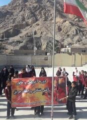 برگزاری مانور اطفاء حریق در مدرسه همت روستای نایبند